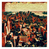 Distorted city scene 33