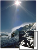 Surfer Silhouette with Sunburst