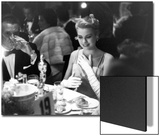 Grace Kelly Sitting at Romanoff's