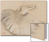 Danseuse penchee en avant Acrylique par Edgar Degas