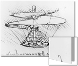 Detail of a Design For a Flying Machine  c1488