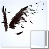 Abstract Image Of Black Wings Against Light Background