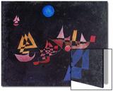 Abfahrt Der Schiffe, 1927 Acrylique par Paul Klee