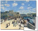 Pont Neuf, Paris, 1872 Acrylique par Pierre-Auguste Renoir