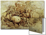 The Battle of Anghiari, 1500 Acrylique par Leonardo Da Vinci