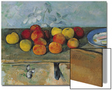 Still Life of Apples and Biscuits, 1880-82 Acrylique par Paul Cézanne