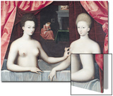 Gabrielle D'Estrees (1573-99) and Her Sister  the Duchess of Villars  Late 16th Century