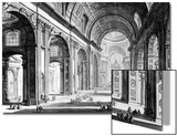 View of the Interior of St Peter's Basilica  from the 'Views of Rome' Series  C1760