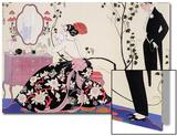 The Backless Dress Acrylique par Georges Barbier
