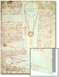 Studies of the Illumination of the Moon  Fol 1R from Codex Leicester  1508-1512
