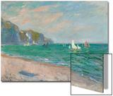 Boats Below the Pourville Cliffs; Bateaux Devant Les Falaises De Pourville, 1882 Acrylique par Claude Monet