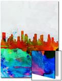 Houston Watercolor Skyline
