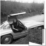 Sophia Loren Sitting Into Her Mercedes at Third Cinema Rally