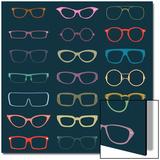Vintage Glasses Silhouettes