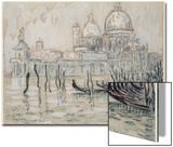 Venice Or  the Gondolas  1908 (Black Chalk and W/C on Paper)
