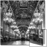 Rows of Chandeliers Hanging in the Grand Lobby of the Paris Opera House Acrylique