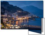 Twilight over Amalfi Along the Amalfi Coast  Campania  Italy