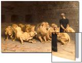 Daniel in the Lions' Den, 1872 Acrylique par Briton Rivière