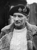General Bernard L Montgomery  in Command of British 8th Army During Drive Through Italy  1944
