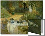 Le Dejeuner (Luncheon in the Artist's Garden at Giverny), circa 1873-74 Acrylique par Claude Monet