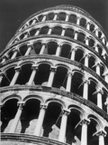 The Famous Leaning Tower  Spared by Shelling in Wwii  Still Standing  Pisa  Italy 1945