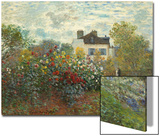 The Artist's Garden in Argenteuil (A Corner of the Garden with Dahlias)  1873