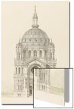 Eglise Saint-Augustin (Paris): Main Facade Elevation Acrylique par Victor Baltard
