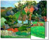 Paysage à Pont-Aven, 1888 Acrylique par Paul Gauguin