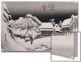 Night Snow  Kambara'  from the Series 'The Fifty-Three Stations of the Tokaido'