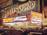 1945: the Astor Theater Marquee Advertising Alfred Hitchcock's Movie 'Spellbound'  New York  Ny