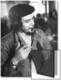 "Cuban Rebel Ernesto ""Che"" Guevara  Left Arm in a Sling  Talking with Unseen Person"