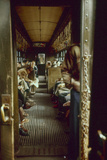 View of Commuters as They Ride in a Car on the Third Avenue Train  New York  New York  1955
