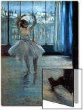 Dancer in Front of a Window (Dancer at the Photographer's Studio) circa 1874-77 Acrylique par Edgar Degas