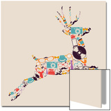 Retro Hipsters Icons Reindeer