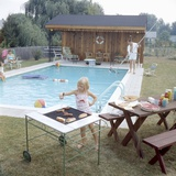 1959: Family Cookout and Enjoying the Backyard Swimming Pool  Trenton  New Jersey