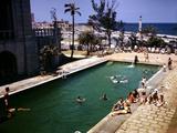 December 1946: Guests Swimming at the Pool at the Hotel Nacional in Havana  Cuba