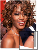 Entertainer Whitney Houston at 50th Annual Grammy Awards