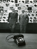 1949: Creators of New Telephone Stylist Henry Dreyfuss and Engineer and Bell Vp William H Martin