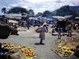 December 1946: Vendors at an Open Air Market at Petionville  Haiti