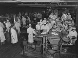 1946: Workers as They Butcher Meats in the Hormel Foods Corporation Factory  Austin  Minnesota
