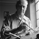 Artist Lyonel Charles Feininger (July 17  1871- January 13  1956)  New York  NY  June 1951