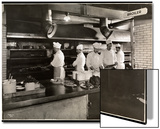 Cooks at the Broiler in the Kitchen of the Hotel Commodore  1919