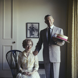 Portrait of Married American Comedians Gracie Allen and George Burns
