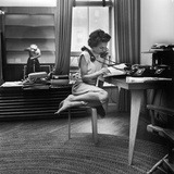 Eileen Ford Working the Phones at the Ford Modeling Agency  1948