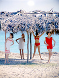 June 1956: Girls Modeling Beach Fashions in Cuba