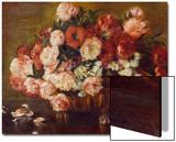 Still-Life with Peonies, 1872 Acrylique par Pierre-Auguste Renoir