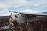 Aviator Roland Angel Repaints His Father's Flamingo Monoplane  Auyantepui  Venezuela  1965