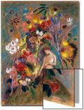 Woman in Flowers, 1904 Acrylique par Odilon Redon