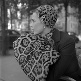 1949: Woman in Fur Fashion in New York City