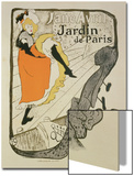 "Reproduction of a Poster Advertising ""Jane Avril"" at the Jardin De Paris  1893"